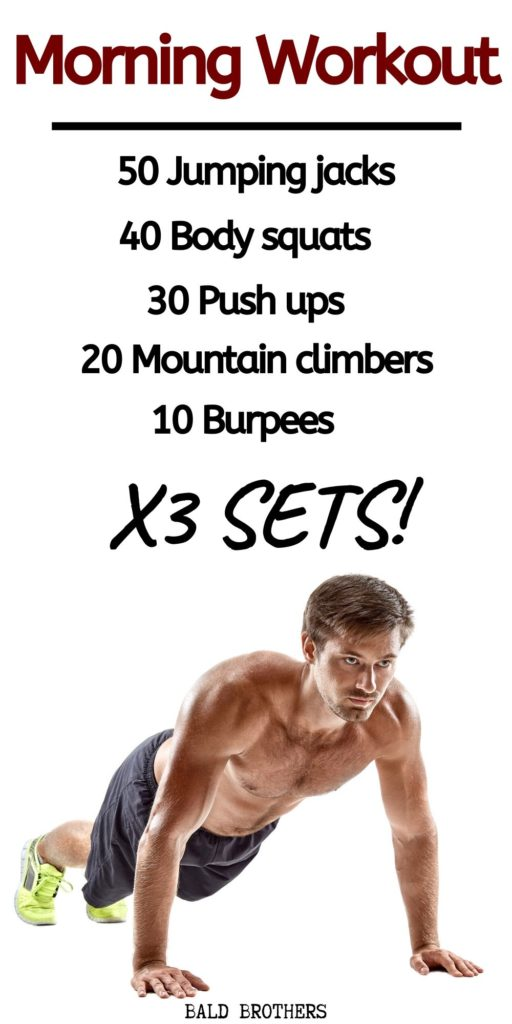 Best Morning Workouts For Men Graphics