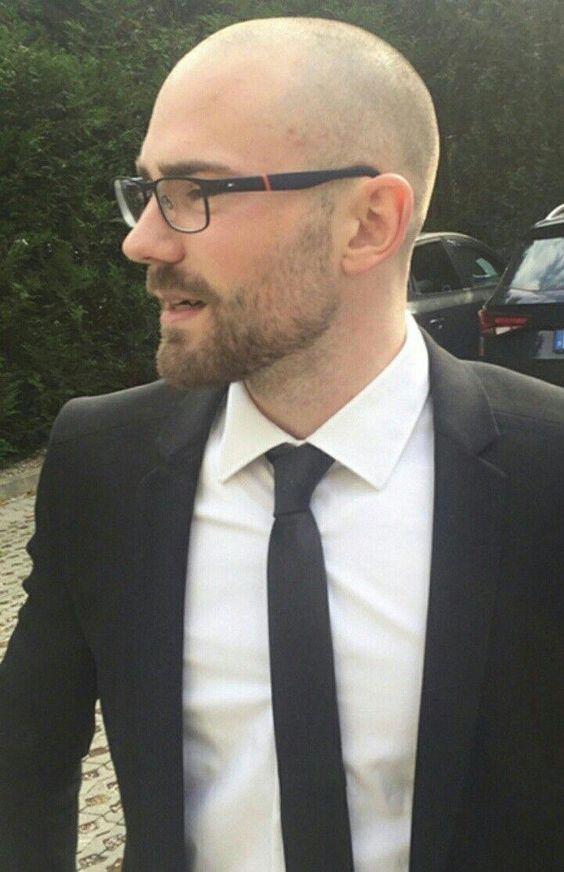 Bald men with short beard
