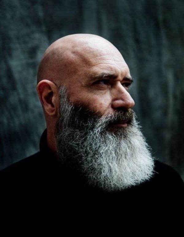 Grey beard for bald men