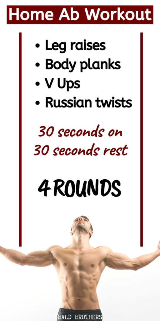 4 Exercise Home Ab Workout You Can Do Everyday The Bald Brothers